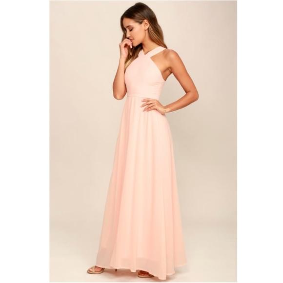 Lulu's Dresses & Skirts - LULU'S Air of Romance Peach Maxi Dress